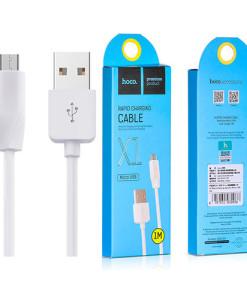 Кабель-USB-HOCO-X1-Micro-white-1m-